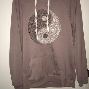 Yin and yang hoodie
